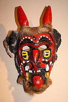 Ceremonial devil mask in the Museo de Arte Popular or Museum of Popular Art in San Salvador, El Salvador
