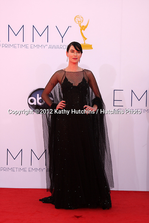 LOS ANGELES - SEP 23:  Lena Headey arrives at the 2012 Emmy Awards at Nokia Theater on September 23, 2012 in Los Angeles, CA