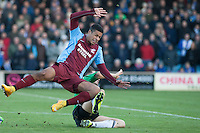 Lyle Taylor of Scunthorpe U<br />  - Scunthorpe United vs Worcester City - FA Challenge Cup 2nd Round Football at Glanford Park, Scunthorpe - 07/12/14 - MANDATORY CREDIT: Mark Hodsman/TGSPHOTO - Self billing applies where appropriate - contact@tgsphoto.co.uk - NO UNPAID USE