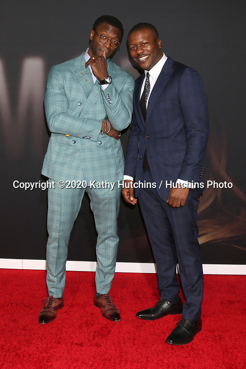 "LOS ANGELES - FEB 24:  Aldis Hodge, Edwin Hodge at the ""The Invisible Man"" Premiere at the TCL Chinese Theater IMAX on February 24, 2020 in Los Angeles, CA"