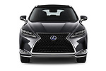 Car photography straight front view of a 2020 Lexus RX Hybrid 450h 5 Door SUV