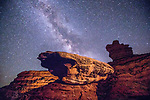 Spaceship Rock Formation Nightscape in Valley of the Gods