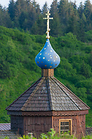 St Herman's chapel located in downtown Kodiak, Kodiak Island, Alaska.