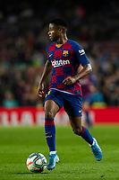 29th October 2019; Camp Nou, Barcelona, Catalonia, Spain; La Liga Football, Barcelona versus Real Valladolid; 31 Ansu Fati during La Liga match against Valladolid