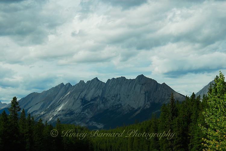 Beautiful Palisades mountain in Jasper National Park