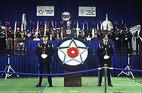 Washington DC., USA, May 15, 1992<br /> President George H.W. Bush delivers address to the members of the law enforcement community during the annual National Law Enforcement Officers Memorial. Credit: Mark Reinstein/MediaPunch