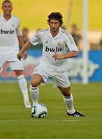 LOS ANGELES, CA – July 16, 2011: Esteban Granero (11) of Real Madrid during the match between LA Galaxy and Real Madrid at the Los Angeles Memorial Coliseum in Los Angeles, California. Final score Real Madrid 4, LA Galaxy 1.