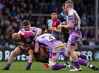 Harlequins' Paul Lasike in action during todays match<br /> <br /> Photographer Bob Bradford/CameraSport<br /> <br /> Premiership Rugby Cup Semi Final - Exeter Chiefs v Harlequins - Sunday 2nd February 2020 - Sandy Park - Exeter<br /> <br /> World Copyright © 2018 CameraSport. All rights reserved. 43 Linden Ave. Countesthorpe. Leicester. England. LE8 5PG - Tel: +44 (0) 116 277 4147 - admin@camerasport.com - www.camerasport.com