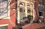 Harrisburg, PA, Historic Shipoke, Door Wreaths,  Street Scape