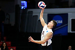 KENOSHA, WI - APRIL 28:  Springfield College's Sergio Figuroa Velez serves a ball at the Division III Men's Volleyball Championship held at the Tarble Athletic and Recreation Center on April 28, 2018 in Kenosha, Wisconsin. (Photo by Steve Woltmann/NCAA Photos via Getty Images)