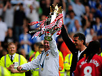 Alex Ferguson with the trophy during the Premier League match at The JJB Stadium, Wigan. Picture date 11th May 2008. Picture credit should read: Simon Bellis/Sportimage