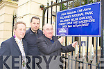 Senator Paul Coughlan, Donnacha Galvin Killarney Chamber of Commerce and Cllr Niall O'Callaghan who found the gates of Killarney House locked at half five Monday evening