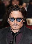 NON EXCLUSIVE PICTURE: MATRIXPICTURES.CO.UK<br /> PLEASE CREDIT ALL USES<br /> <br /> WORLD RIGHTS<br /> <br /> American actor Johnny Depp attending the UK Premiere of Mortdecai at Empire Leicester Square, in London.<br /> <br /> JANUARY 19th 2015<br /> <br /> REF: GBH 15182