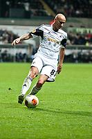 Thursday 24 October 2013  <br /> Pictured: Jonjo Shelvey of Swansea<br /> Re:UEFA Europa League, Swansea City FC vs Kuban Krasnodar,  at the Liberty Staduim Swansea