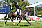 Peter Hannigan riding First Mate during day 2 of the dressage phase at the 2012 Land Rover Burghley Horse Trials in Stamford, Lincolnshire,UK.