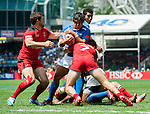 Canada vs Samoa during the HSBC Sevens Wold Series match as part of the Cathay Pacific / HSBC Hong Kong Sevens at the Hong Kong Stadium on 28 March 2015 in Hong Kong, China. Photo by Xaume Olleros / Power Sport Images