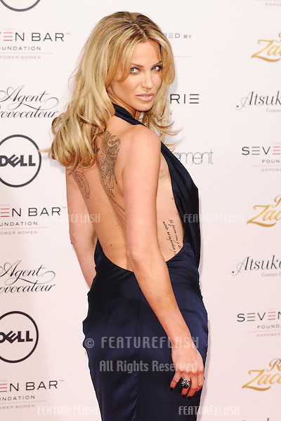 Sarah Harding arriving for the Lingerie London show at Old Bilinsgate Market, London. 24/10/2012 Picture by: Steve Vas / Featureflash