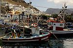 Boats at their moorings, Mogan harbour, Gran Canaria.
