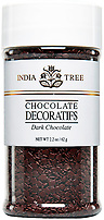 India Tree Dark Chocolate Decoratifs, India Tree Chocolate Toppings