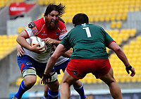 Ryan Shelford in action during the Heartland Championship rugby match between Horowhenua Kapiti and Wairarapa Bush at Westpac Stadium in Wellington, New Zealand on Sunday, 1 October 2017. Photo: Dave Lintott / lintottphoto.co.nz