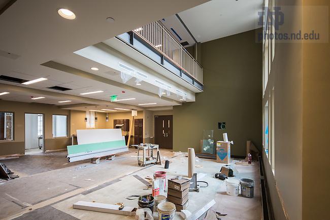 June 23, 2016; Flaherty Hall construction (Photo by Matt Cashore/University of Notre Dame)