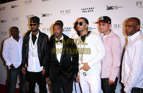 RAY J (William Raymond Norwood Jr.) & GUESTS .Ray J celebrates his 30th birthday at Pure Nightclub inside Caesar's Palace Resort Hotel and Casino, Las Vegas, Nevada, USA, 15th January 2011..half length black bow tie tux tuxedo friends .CAP/ADM/MJT.© MJT/AdMedia/Capital Pictures.