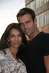 Cameron Mathison and wife Vanessa Arevalo outside the All My Children Studios, New York City, New York. (Photo by Sue Coflin/Max Photos)