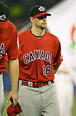 March 7, 2009:  Pitcher Scott Diamond (18) of Canada during the first round of the World Baseball Classic at the Rogers Centre in Toronto, Ontario, Canada.  Team USA defeated Canada 6-5 in both teams opening game of the tournament.  Photo by:  Mike Janes/Four Seam Images