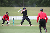 Action from the 2019 Gillette Cup cricket match between Wellington College and Hamilton Boys' High School at Hagley Oval in Christchurch, New Zealand on Tuesday, 3 December 2019. Photo: Martin Hunter / lintottphoto.co.nz