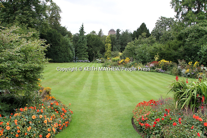Clare College, Cambridge - The Gardens.Cambridge, U.K - A variety of scenes at the historic university city of Cambridge, England -  September 2nd 2012..Photo by Keith Mayhew