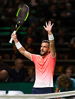 Rotterdam, The Netherlands, 13 Februari 2019, ABNAMRO World Tennis Tournament, Ahoy,  Damir Dzumhur (BIH) <br /> Photo: www.tennisimages.com/Henk Koster