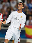 LISBOA. PORTUGAL. FÚTBOL. <br /> FINAL CHAMPIONS LEAGUE<br /> Estadio Estadio do Sport Lisboa e Benfica<br /> REAL MADRID - ATLETICO MADRID,  a 25/05/2014 <br /> En la foto : TROFEO CHAMPIONS  <br />cristiano ronaldo