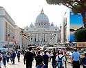 St. Peter's Basilica in the Vatican was one of our destinations in Rome.  The crowds didn't deter from taking in the beauty of the Vatican.  And inside those walls are some of the worlds most precious paintings, tapestries and sculptures.