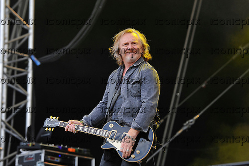 THUNDER - guitarist Luke Morley - performing live n Day Two of the Ramblin' Man Fair at Mote Park Maidstone Kent UK - 24 Jul 2016.  Photo credit: Zaine Lewis/IconicPix