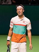 Rotterdam, The Netherlands, 12 Februari 2019, ABNAMRO World Tennis Tournament, Ahoy, first round singles: Kei Nishikori (JPN), <br /> Photo: www.tennisimages.com/Henk Koster