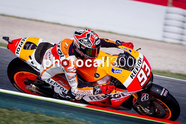 The Rider Marc Marquez during the qualifying practice of MotoGP Grand Prix of Catalunya. 06/14/2014. Samuel Roman/Photocall3000