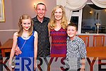 Anna Guerin from Glenflesk pictured with her husband John and two kids Aoifa and sean celebrated her 40th birthday in The Kerry Way, Glenflesk last Saturday night.