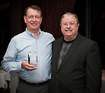 Mike Redditt, HEB Aldine Westfield receives Strategic Partner Award for Business from Clyde Bailey, East Aldine Board of Director -Chair