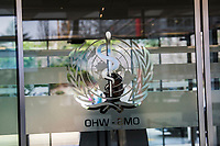 Entry to the World Health Organisation, the UN's health body, at the organisation's headquarters in Geneva.