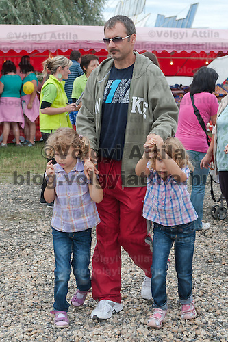 Twins participate the 12th Twin Festival held 7th time in Szigehalom (about 15 km from Budapest), Hungary on July 23, 2011. ATTILA VOLGYI