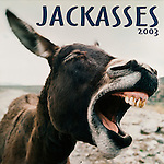 Published photography by Larry Angier..Jackasses 2003 Calendar cover, Browntrout Publishers