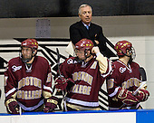 Benn Ferriero (BC 21), Matt Greene (BC 14), Jerry York (BC Head Coach), Joe Whitney (BC 15) - The Boston College Eagles and Providence Friars played to a 2-2 tie on Saturday, March 1, 2008 at Schneider Arena in Providence, Rhode Island.