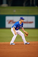 Oklahoma City Dodgers shortstop Charlie Culberson (6) during a game against the Colorado Springs Sky Sox on June 2, 2017 at Chickasaw Bricktown Ballpark in Oklahoma City, Oklahoma.  Colorado Springs defeated Oklahoma City 1-0 in ten innings.  (Mike Janes/Four Seam Images)
