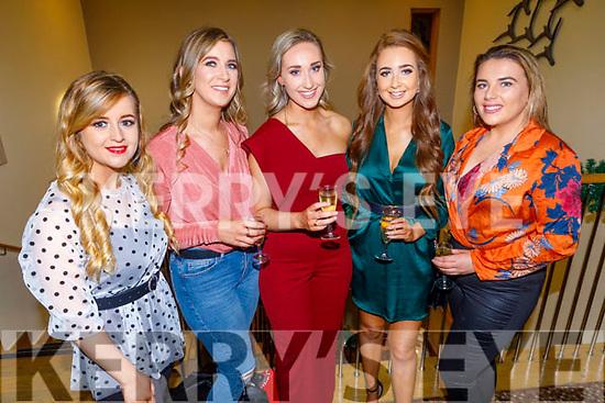 Mary Lyne, Eimeer O'Halloran, Eva Lee, Julie Cahill and Blathnaid O'Connor enjoying the CH Chemist Christmas party in the Ballyroe Heights Hotel on Saturday.