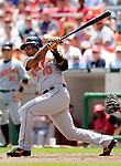 21 May 2006: Miguel Tejada, shortstop for the Baltimore Orioles, at bat during a game against the Washington Nationals at RFK Stadium in Washington, DC. The Nationals defeated the Orioles 3-1 to take 2 of 3 games in their first inter-league series...Mandatory Photo Credit: Ed Wolfstein Photo..
