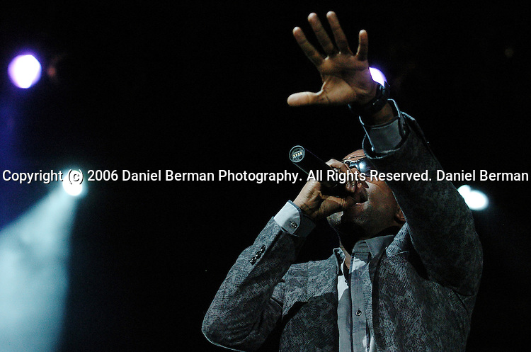 Rapper Kanye West performs at the Bumbershoot music festival in Seattle, WA September 3, 2006.