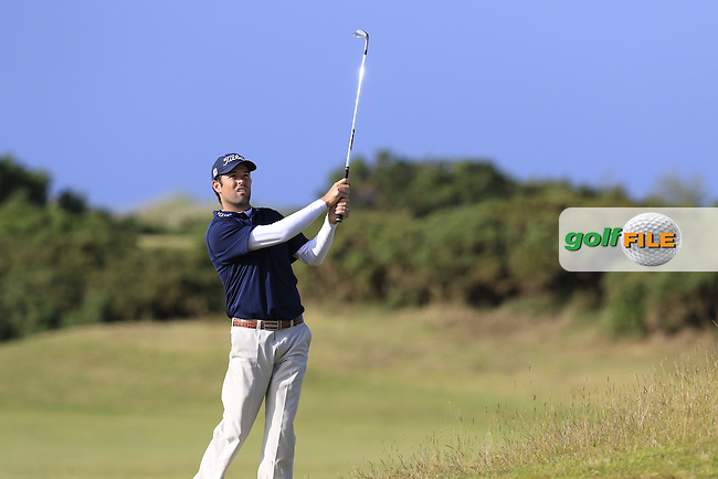 Robert Streb (USA) in action on the 15th hole during Sunday's Round 3 of the 144th Open Championship, St Andrews Old Course, St Andrews, Fife, Scotland. 19/07/2015.<br /> Picture Eoin Clarke, www.golffile.ie