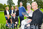 Mary O'Connor and John O'Shea launching the annual MS The Old Kenmare road walk which will be held on October 11th with back front row: Tracey sheehan Philip O'Callaghan, back Mary O'Connor, Maggie McAulliffe, Diane O'Leary and Seamus O'Sullivan