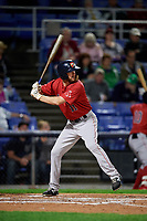 Portland Sea Dogs first baseman Jantzen Witte (11) at bat during a game against the Binghamton Rumble Ponies on August 31, 2018 at NYSEG Stadium in Binghamton, New York.  Portland defeated Binghamton 4-1.  (Mike Janes/Four Seam Images)