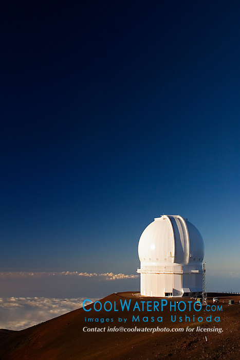 Canada-France-Hawaii Telescope or CFHT, Mauna Kea Observatories, Big Island, Hawaii